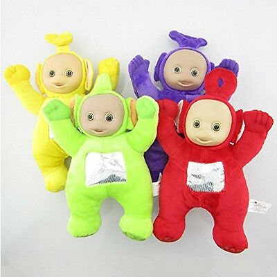 Teletubbies Set of 4 Plush Dolls Featuring 8` Po Dipsy Laa Laa and Tinky Winky