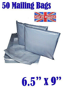 50 Mailing Bags 7x9 Cheap Strong Grey Plastic Poly Postal Postage  Auct 6 4U