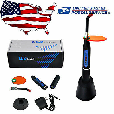 NEW Dental 10W Wireless Cordless LED Curing Light Lamp 2000mw US Fast ship