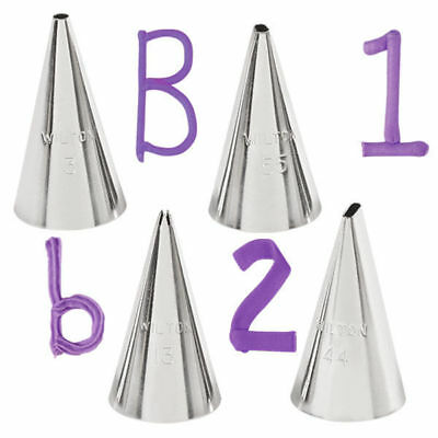 Wilton # 4566 Cake Decorating Letters Numbers Shapes Writing Icing Nozzle Tips