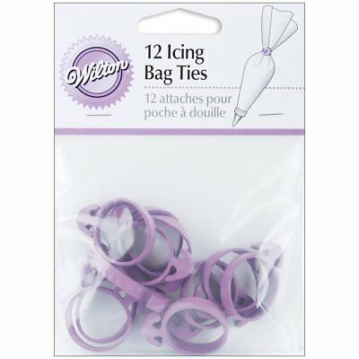 Wilton Cake Decorating Decoration Sugarcraft Icing Squeeze Out Bag Ties 12 pack