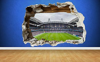 Manchester City Etihad Wall Sticker 3D Smashed Bedroom Football Boys Art Decal