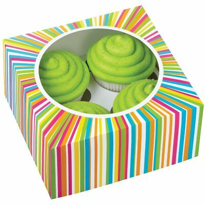 Wilton 4 Cavity Color Wheel Cup Cakes Muffins Cookies Candies Box Colourful 3 Pk