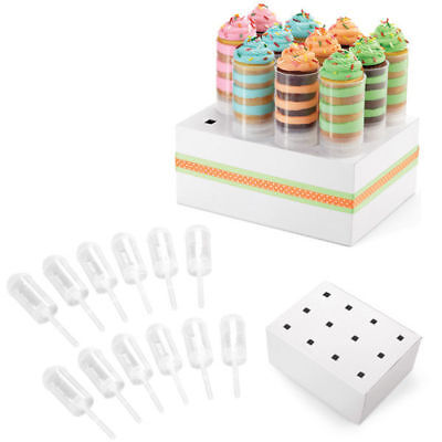 Wilton 12 Pk Treats Pops Clear Containers Holders Stand Display Party Decorating