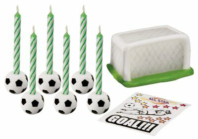 Wilton Football Decal Candle Set Soccer Sports Children Birthday Cake Decoration