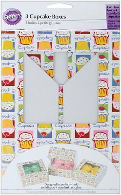 Wilton Cupcake Heaven Cakes Muffins Cookies Candies Decorating Box Pack of 3
