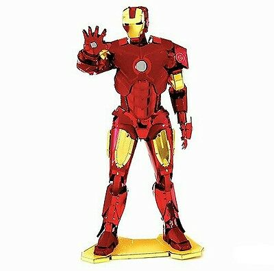 Iron Man 3D Metallic Puzzle / Model -  Red & Gold  - Stainless Steel - New