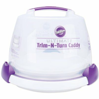 Wilton Ultimate Trim N Turn Caddy Cake Decorating Transporting Storing Decorator