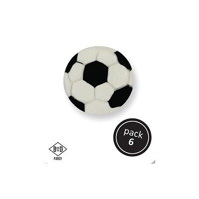PME Cup Cake Icing Sugar Decoration Decorating Sport Soccer Football (6/Pk)