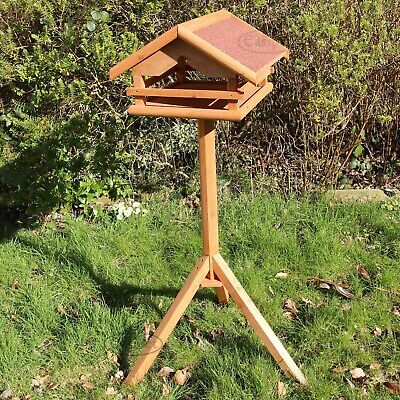 Wooden Bird Table Feeder Garden Wild Birds Feeding Station Wood House Easipet