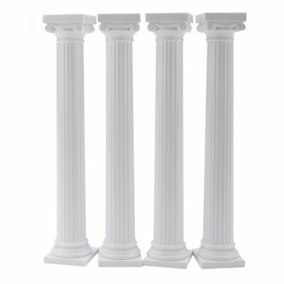 "Wilton 7 "" Grecian Pillars Wedding Stand Cake Decoration Presentation Set of 4"