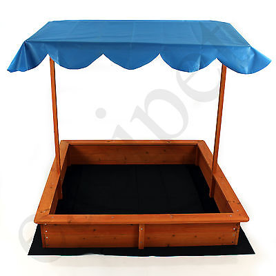 Sand Ball Pit Box Child Garden Outdoor Play Wooden with Roof Sunshade Sandbox