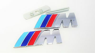 Front Grill & Rear Boot Badges For Bmw M-Sport Power Tec 1 3 4 5 6 Series M3 M5