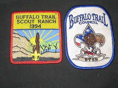 Buffalo Trail Scout Ranch 2002 and 1994 Pocket Patches    cjp