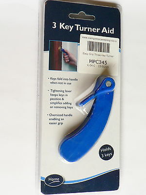 Easy Grip 3 Key Turner Large Handle Gripping Disability Mobility Arthritis Aid