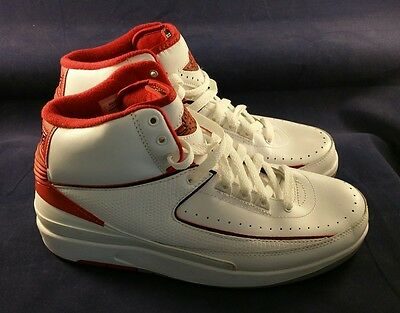 quality design 273a6 27d03 Authentic NIKE AIR JORDAN RETRO II 2 RED Size 8 308308-162 Basketball Shoes