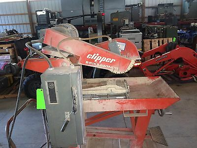 Norton Clipper Briksawmatic Concrete Abrasive Tile Brick Saw