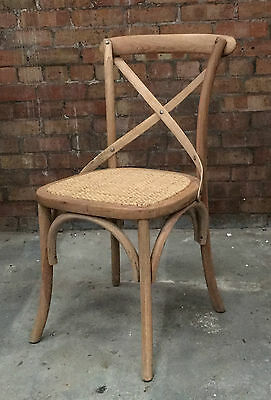 Weathered Oak Bentwood X Back Dining Chair Gainsborough Bistro Chair With Seat