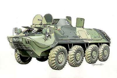 Finnish army armored BTR-60 Russian Author's drawing illustrate cover book