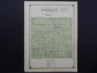 Minnesota, Fillmore County Map, 1915 #15 Township of Fountain