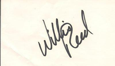 WILLIS REED SIGNED 3x5 INDEX CARD KNICKS AUTO AUTOGRAPH