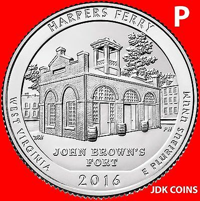 2016-P Harpers Ferry National Historical Park (Wv) Quarter Uncirculated