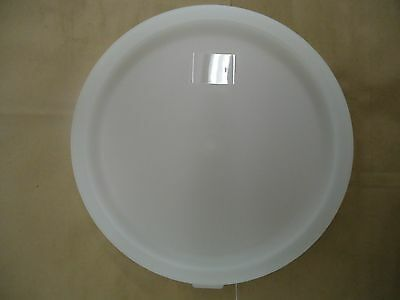 *new* White Lid For 2 Qt & 4 Qt Round Food Storage Containers - Fits Cambro