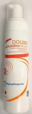 Douxo Chlorhexidine Leave-On Mousse Pet Topical management skin infections 6.8oz