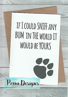 Fathers Day Card From The Dog Birthday Mature Funny Rude Joke Dad Owner