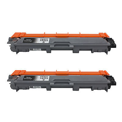2Pk TN221 BLACK Toner For Brother MFC-9130CW, MFC-9330CDW, MFC-9340CDW