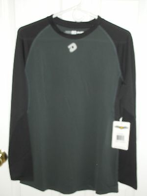 Nwt. Women's Demarini Softball Performance Jersey, Black/gray,  Ls, Size Large,