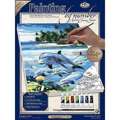 Royal & Langnickel Painting by Numbers Artist Canvas Series Dolphin Island Small