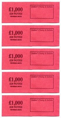 £20 Note Money Band/Strap Holds £1000 Choose Quantity