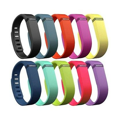 Two Size Durable Replacement TPU Wrist Band & Clasp for Fitbit Flex Bracelet CA