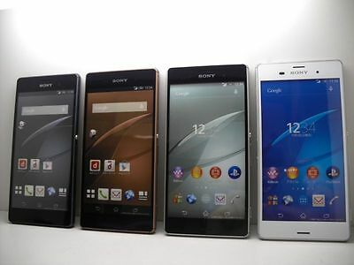 NTT docomo SO-01G Sony Xperia Z3 Non-working Display Phone 4 color set