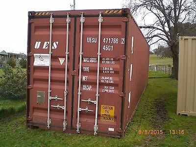Shipping Container 40'HC, used weatherproof, Sydney Bris. Melb. Perth Adelaide