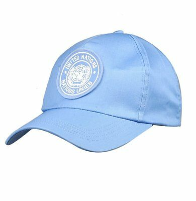 United Nations Peacekeeping Force Blue Baseball 100% Cotton Cap Hat