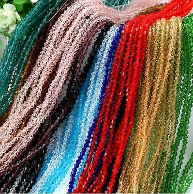 Wholesale 1200 Pcs 4mm swarovski crystal Glass Bicone Beads 40 colors CraftsDIY