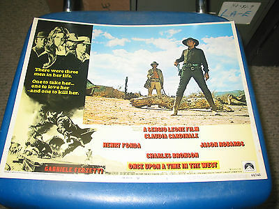 Once Upon A Time In The West / Orig. U.s. 11X14 Lobby Card 1 (Sergio Leone)