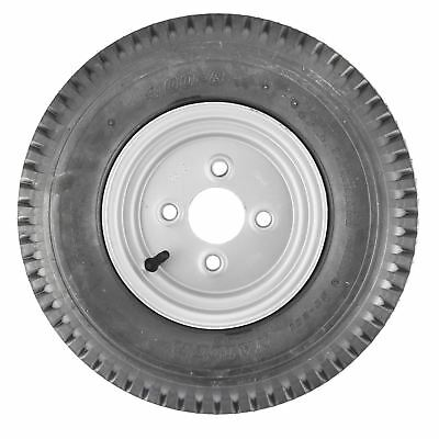 Trailer Wheel Rim & Tyre 4.00-8 4 PLY 100mm Inch PCD TRSP16
