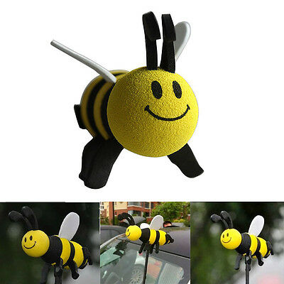 Lovely Car Antenna Toppers Smiley Honey Bumble Bee Aerial Ball Decor Topper