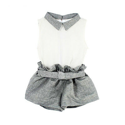 2PCS Summer Kids Baby Girls Chiffon T-shirt Tops+Pants Outfits Clothes Sets 1-6Y
