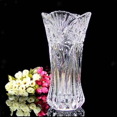 Glass Flower Vase Roses Lily Foral Hydroponic Terrarium Container Bottle Pot