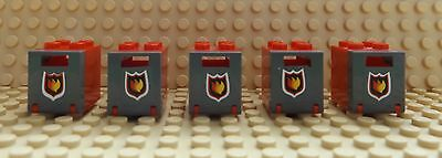 5 LEGO Red Container Letter Post Mail Box /& Fire Pattern 4345//4346 Fire Engine