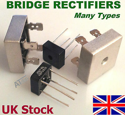BRIDGE RECTIFIER  -  Many Types   from 3amp to 50amp    max.1000v - UK Stock