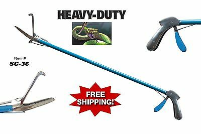 "36""  Professional Heavy Duty SNAKE TONGS Reptile Grabber Handling Tool"