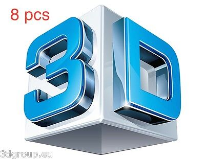 8 pcs any models 3d Relief Model STL for Router Engraver Mill Woodworking