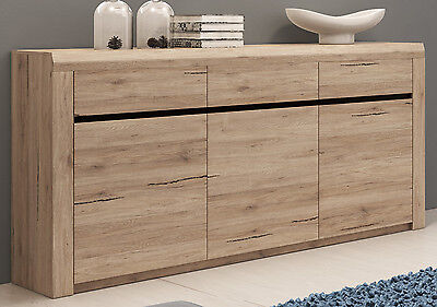 sideboard eiche san remo hell eur 249 90 picclick de. Black Bedroom Furniture Sets. Home Design Ideas