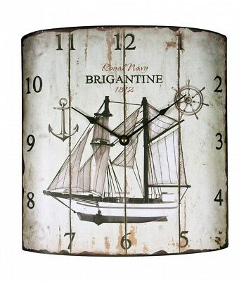 Vintage Wall clock in Country House Style Metal 21503