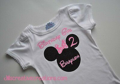 T-shirt, Custom T-Shirt, Minnie Mouse, Birthday, Personalized shirt